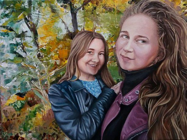 Малюю портрети по фото маслом на полотні