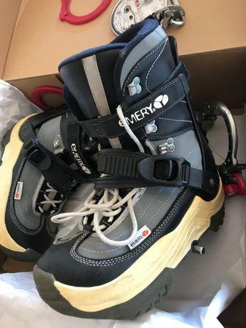 Botas 42/43 e Fixações Snowboard STEP ON