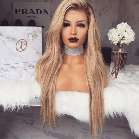 Naturalna peruka długa FREEDOMCOUTURE długie blond włosy 61cm