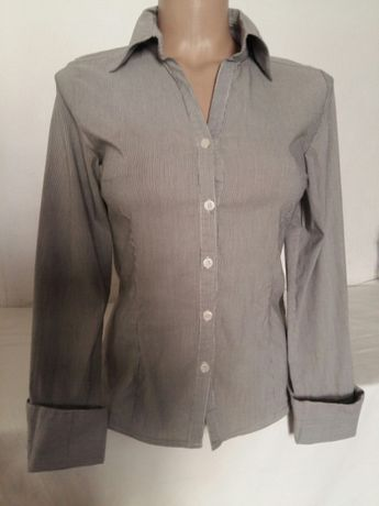 Рубашка, блузка в мелкую полоску XS -XXS