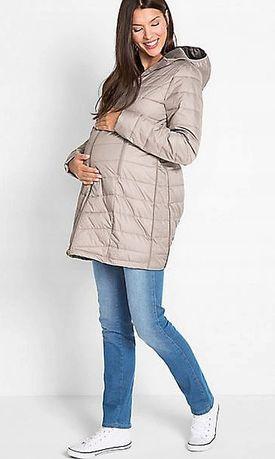 Nowy damski płaszcz kurtka ciążowa pikowana ze wstawką lekka 48 xxxl