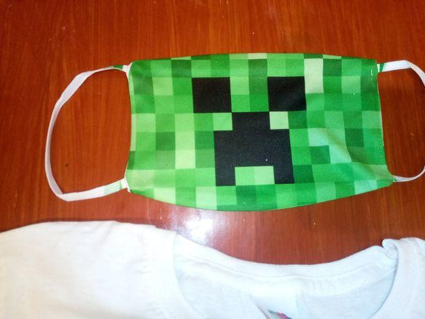 Maska maseczka ochronna Minecraft gra dla dzieci dla dziecka
