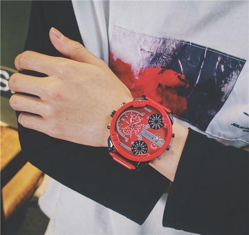 Zegarek DIESEL JUBAOLI czerwony pasek tarcza 5,7