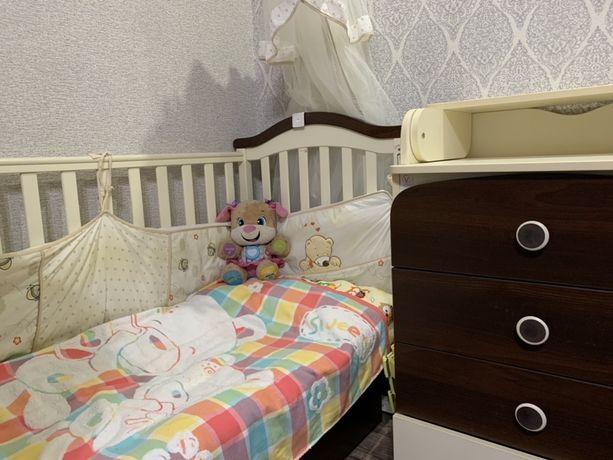 Продам Детскую кроватку и пеленатор Верес