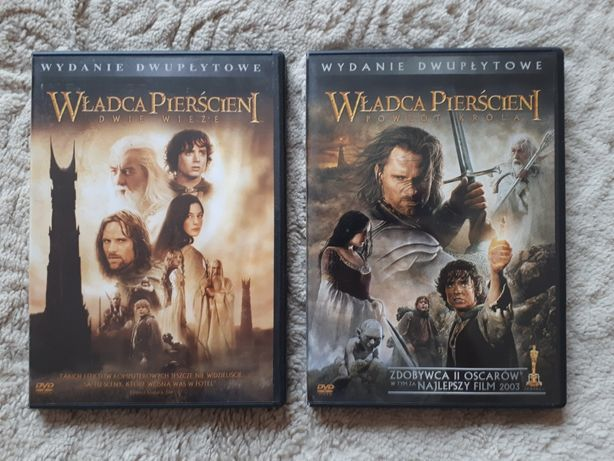 DVD - Władca Pierścieni Dwie Wieże + Powrót Króla (wydania dwupłytowe)