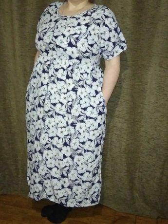 Летнее платье в пол 52-54 размер
