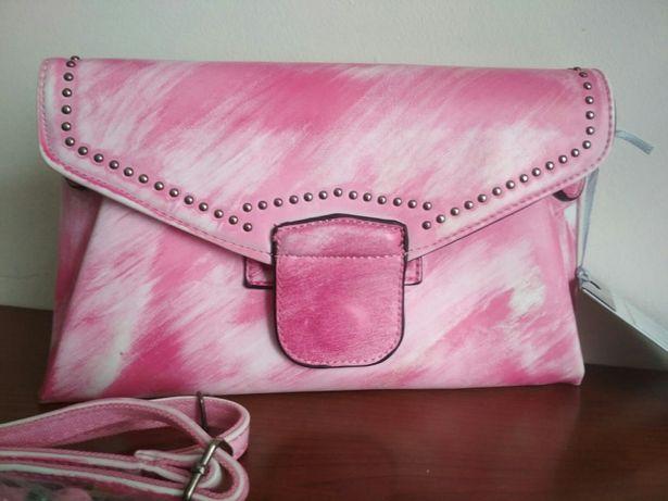 Nowa torebka wizytowa , kopertówka, różowa
