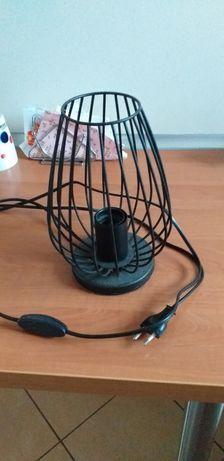 Lampka czarna metalowa  matowa sprawna