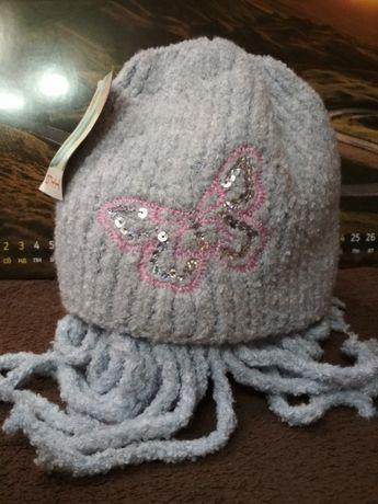 Шапка вязанная Комплект зимняя шапка шарф, Новый, Польша.