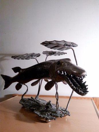 """Скульптура из металла """"Рыба"""""""