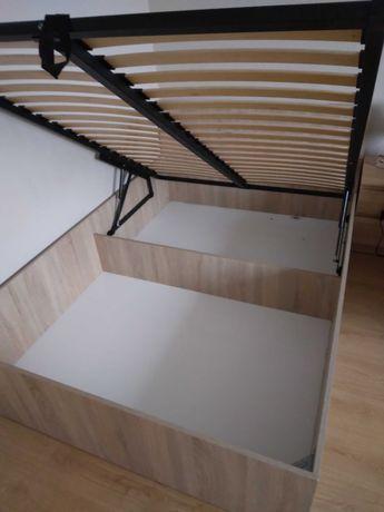 łóżko z materacem 200x140 jak nowe