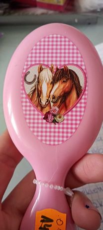 Szczotka do włosów pastelowa koń