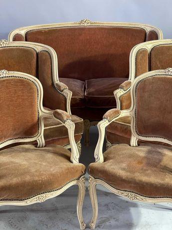 Komplet Salon kanapa , 2 fotela Beregere 2 - Cabriolet  styl Ludwik.XV