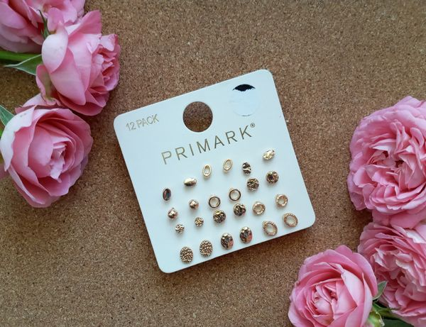 Набор серёжек 12 пар Primark гвоздики