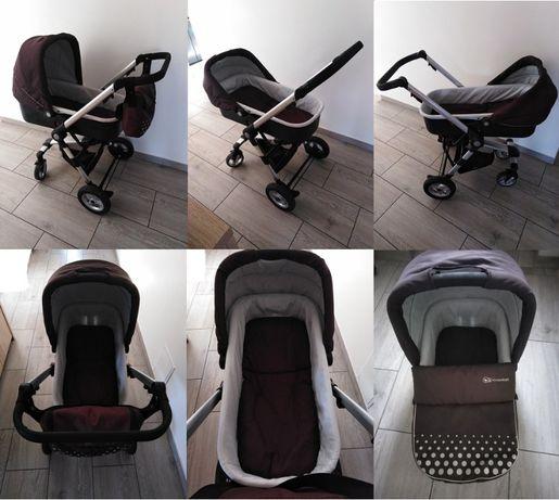 Wózek Kinder Kraft 3w1 - brązowy