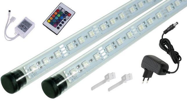 Świetlówka LED RGB oświetlenie akwarium pilot 16w1 2x50cm I+I