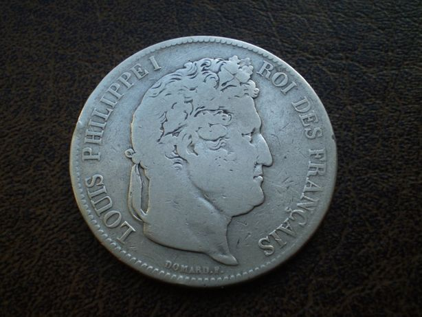 Серебро 5 франков 1835-го года королевство Франция