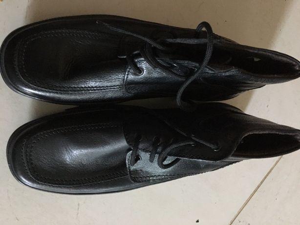 Ботинки мужские, кожа, новыые