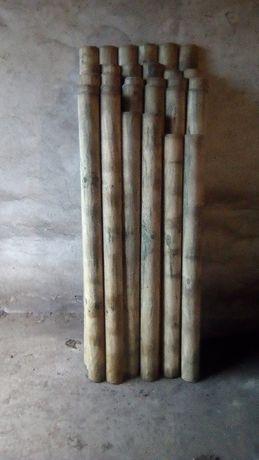 Baliki drewniane palisada ogrodzenie sztachety piaskownica buda dla ps