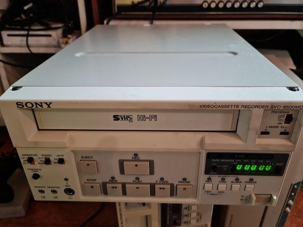 Videogravador profissional S VHS SONY SVO 3500MD (com defeito)
