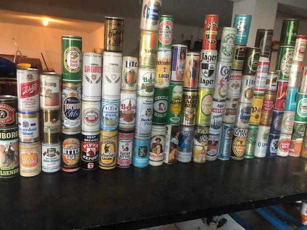 colecção de latas de cerveja e outras anos 80 e 90