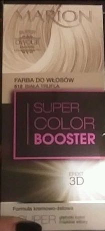Farba do włosów MARION Super Color Booster 3D Biała Trufla