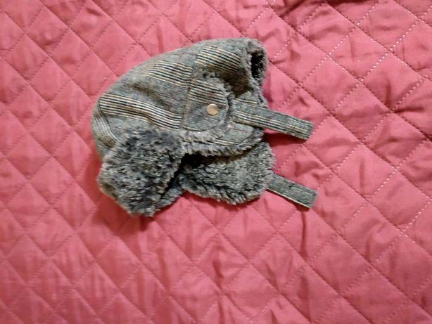 Шапка ушанка зимняя на мальчика 6-12 месяц 1 год