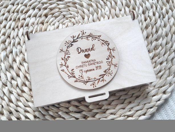 Pudełko na pieniądze z życzeniami rustykalne