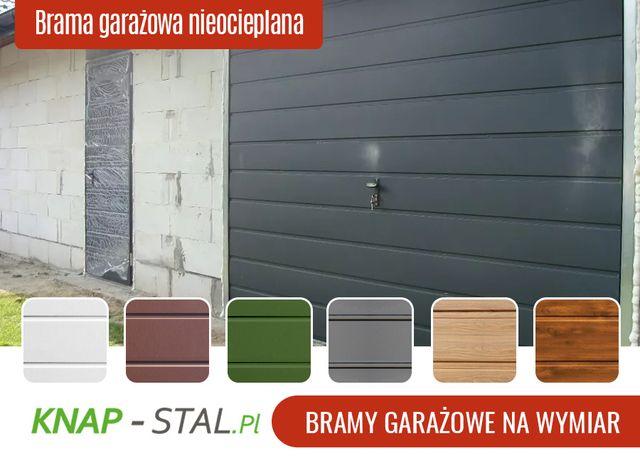 Brama garażowa uchylna 3x2.5m - BRAMY GARAŻOWE - KNAPSTAL -