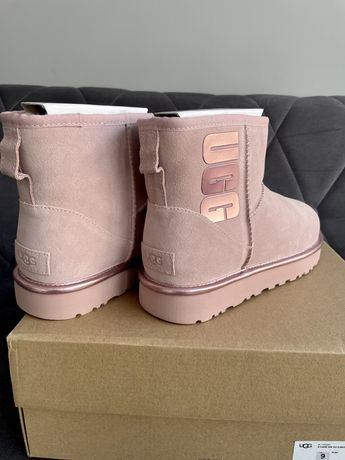 Buty zimowe UGG niskie piekne różowe