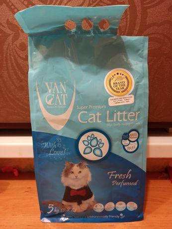 Бентонітовий наповнювач Van Cat з ароматом Фреш 5кг.(Туреччина)