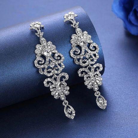 Nowe eleganckie kolczyki ślubne, weselne la Novia Blanca