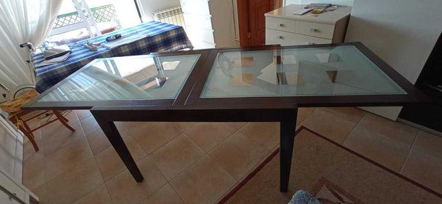 Mesa sala jantar com vidro