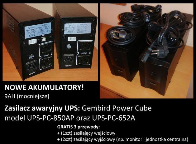 Gembird Power Cube UPS-PC-850AP oraz UPS-PC-652A zasilacz awaryjny