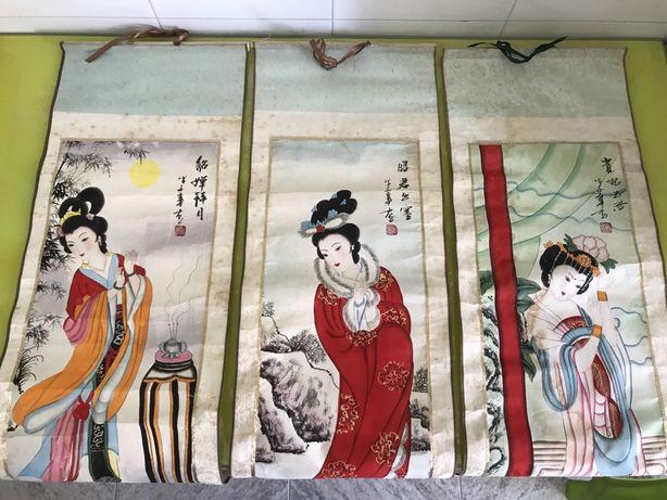 Pinturas quadros chineses de Hong Kong + pinturas / quadros africanos