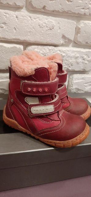 Кожанные ботинки зимние на дев. 23 р.(15см стелька) Djoy (Турция)