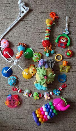 Игрушки для новорожденных: мобиль Canpol Babies, Tiny Love, погремушки