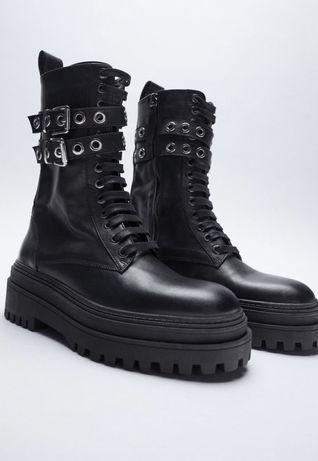Кожаные ботинки Zara 39 р
