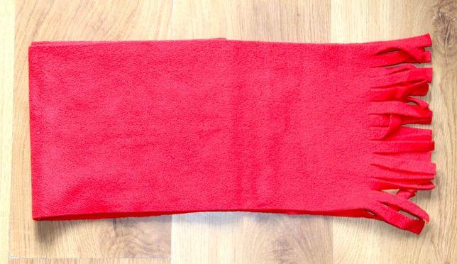 czerwony szalik szal chusta chustka polar levis