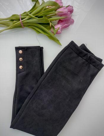 Zamszowe spodnie