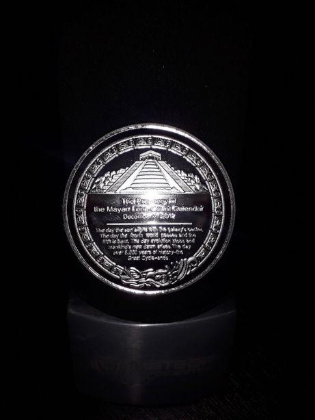 коллекционная сувенирная монета-колендарь ацтеков