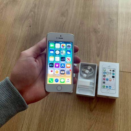 iPhone 5s Silver idealny stan