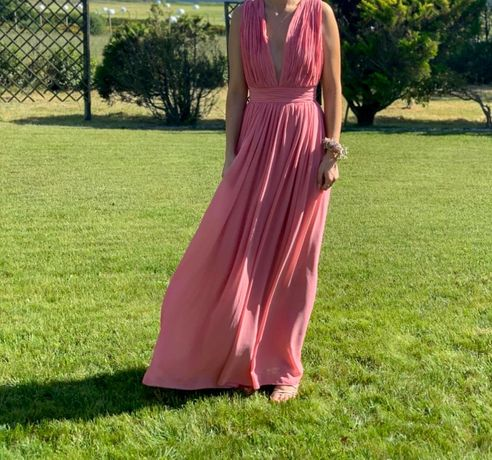 Vestido Cerimónia Rosa - género kaoa