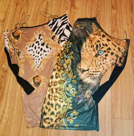 Piękne sukienki firmy TATU tygrys panterka łańcuszek