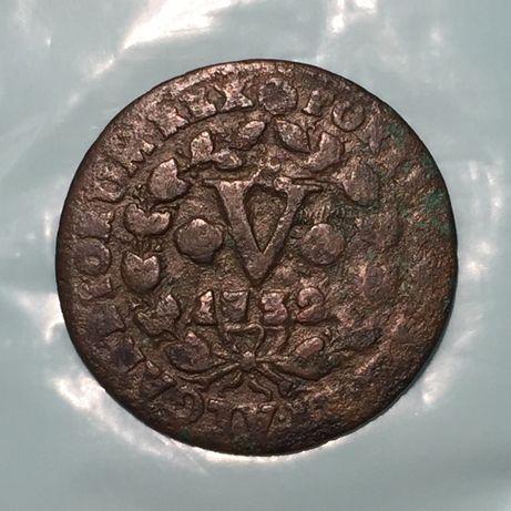 5 (V) réis 1732 - D. João V