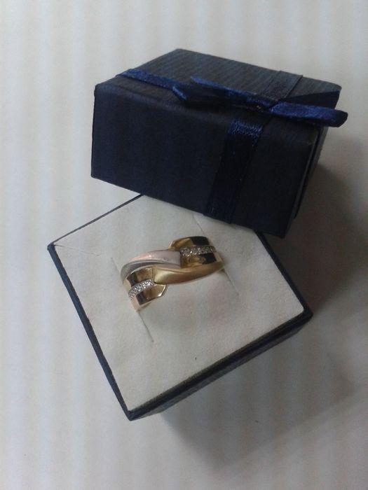 Pierścionek złoty z cyrkoniami próba 585 Gliwice - image 1