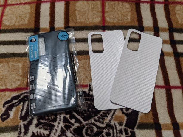 Чехол Xiaomi Mi 10T, Mi 10T Pro + 2 карбоновые плёнки