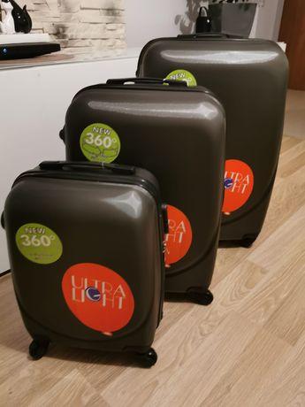 Zestaw 3 walizek** NOWE**  plastikowe