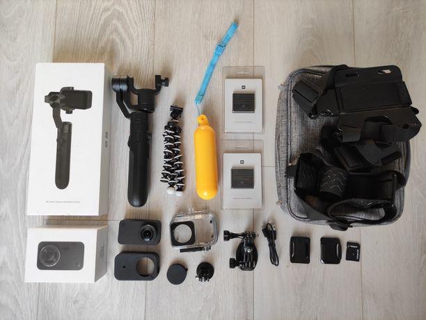 Kamera Sportowa Mi Xiaomi MiJia 4K + Gimbal + baterie akcesoria OKAZJA