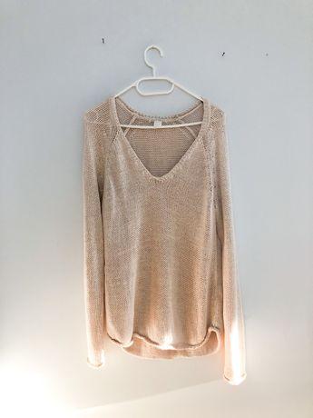 Cieniutki Cienki sweter sweterek H&M 36